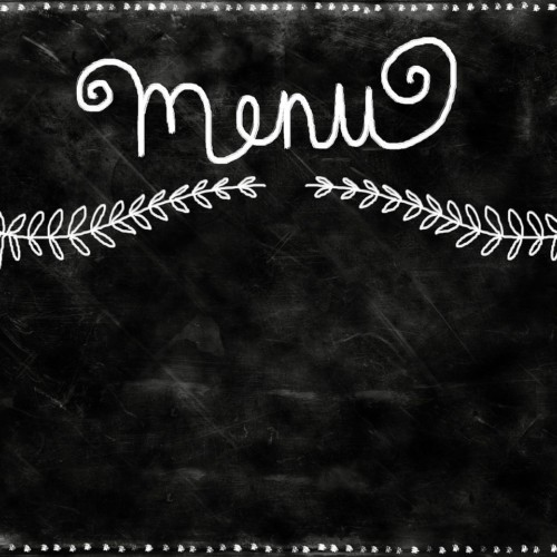 menu-on-chalk-background